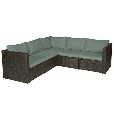 Terrific Mercury Row Lachesis Patio Sectional With Cushions Cushion Cjindustries Chair Design For Home Cjindustriesco