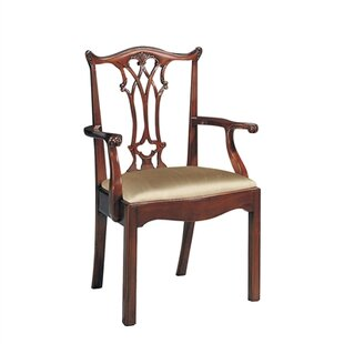 Carved Chippendale Upholstered Dining Chair by Maitland-Smith