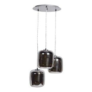 Orren Ellis Devereau 3-Light Cluster Pendant