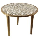 Tyann Round Wooden End Table by Bungalow Rose