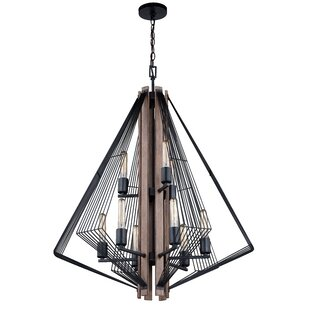 Stapleton 9-Light Geometric Chandelier by Orren Ellis