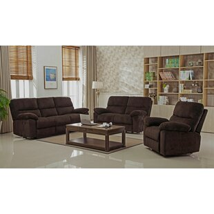 Berthold Reclining Living Room Set (Set of 3) Red Barrel Studio