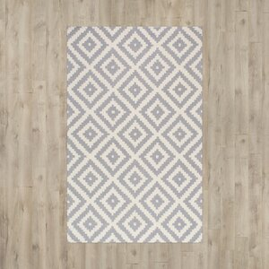 Obadiah Hand-Woven Wool Gray Area Rug