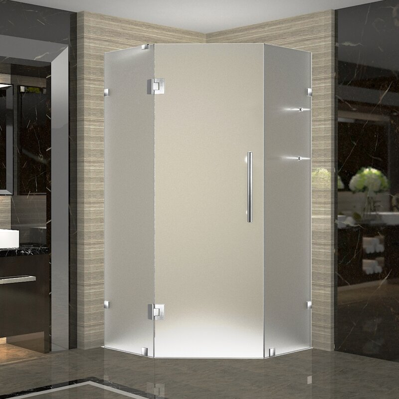 Aston Neoscape Gs 36 X 72 Hinged Frameless Shower Door Wayfair