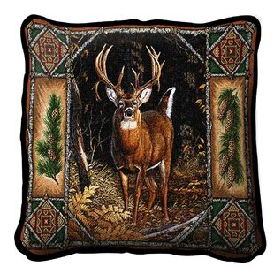 Windle Deer Lodge Cotton Throw Pillow