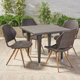 George Oliver Noah Outdoor 5 Piece Dining Set