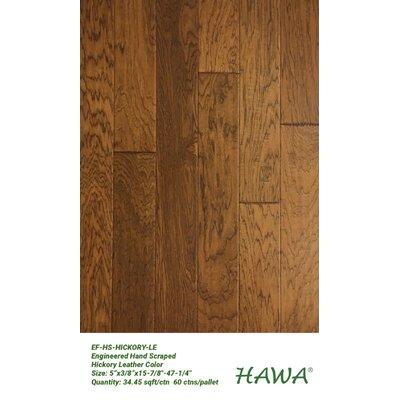 """5"""" Engineered Hickory Hardwood Flooring Hawa Bamboo"""