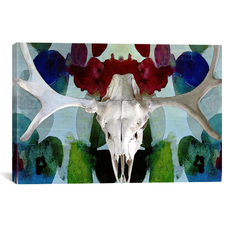 Icanvas Canada Moose Skull 3 Graphic Art On Canvas Wayfair