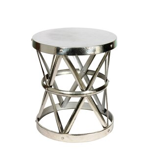 Hammered End Table by Fashion N You by Horizon Interseas