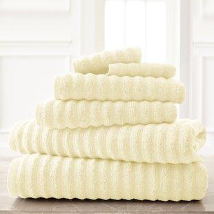 Knopf 6 Piece 100% Cotton Towel Set By Zipcode Design