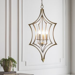Mercer41 Augu Transitional 4-Light Geometric Chandelier