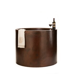 45 x 45 Hand Hammered Japanese Style Copper Whirlpool Bathtub ByPremier Copper Products