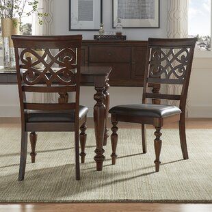 Leopoldo Armless Upholstered Dining Chair (Set Of 2) by Fleur De Lis Living Bargain