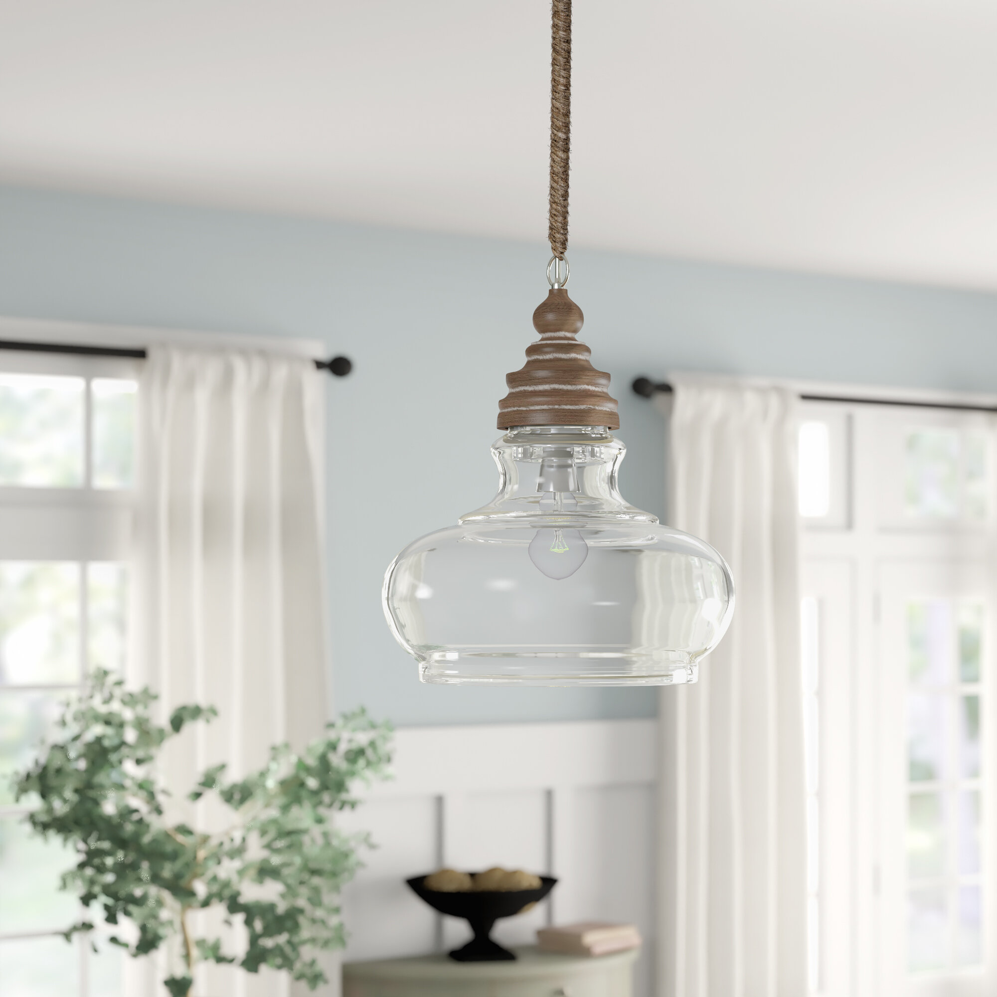 Pendant Light For Kitchen Island Liylan Industrial Vintage Farmhouse Dinning Room Hanging Lighting Fixtures Oil Rubbed Bronze With Clear Seeded Glass Pendant Lights
