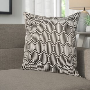 Baillie Losenge Jacquard Polyester Throw Pillow by George Oliver