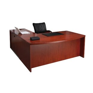 Mira Series Reversible L-Shape Executive Desk by Mayline Group Amazing