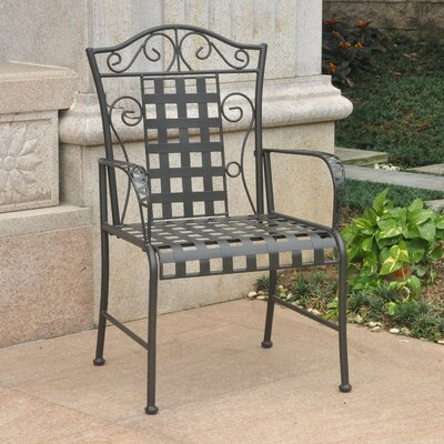 Abbottsmoor Patio Dining Chair Finish: Antique Black by Darby Home Co