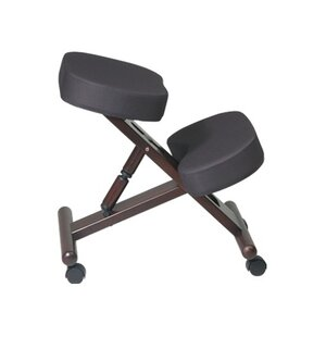Height Adjustable Kneeling Chair with Dual Wheel