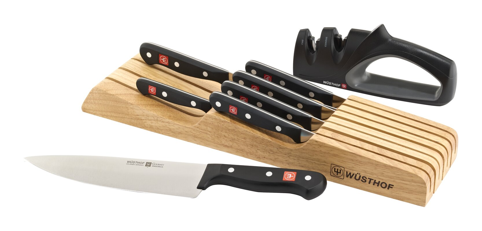 Gourmet 8 Piece In Drawer Knife Set