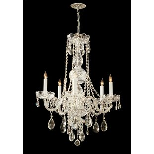 Willa Arlo Interiors Careen Traditonal 5-Light Glass Candle Style Chandelier