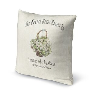 The Easter Bunny Basket Throw Pillow