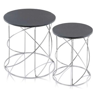 Fleta Marble 2 Piece Nesting Tables by Orren Ellis
