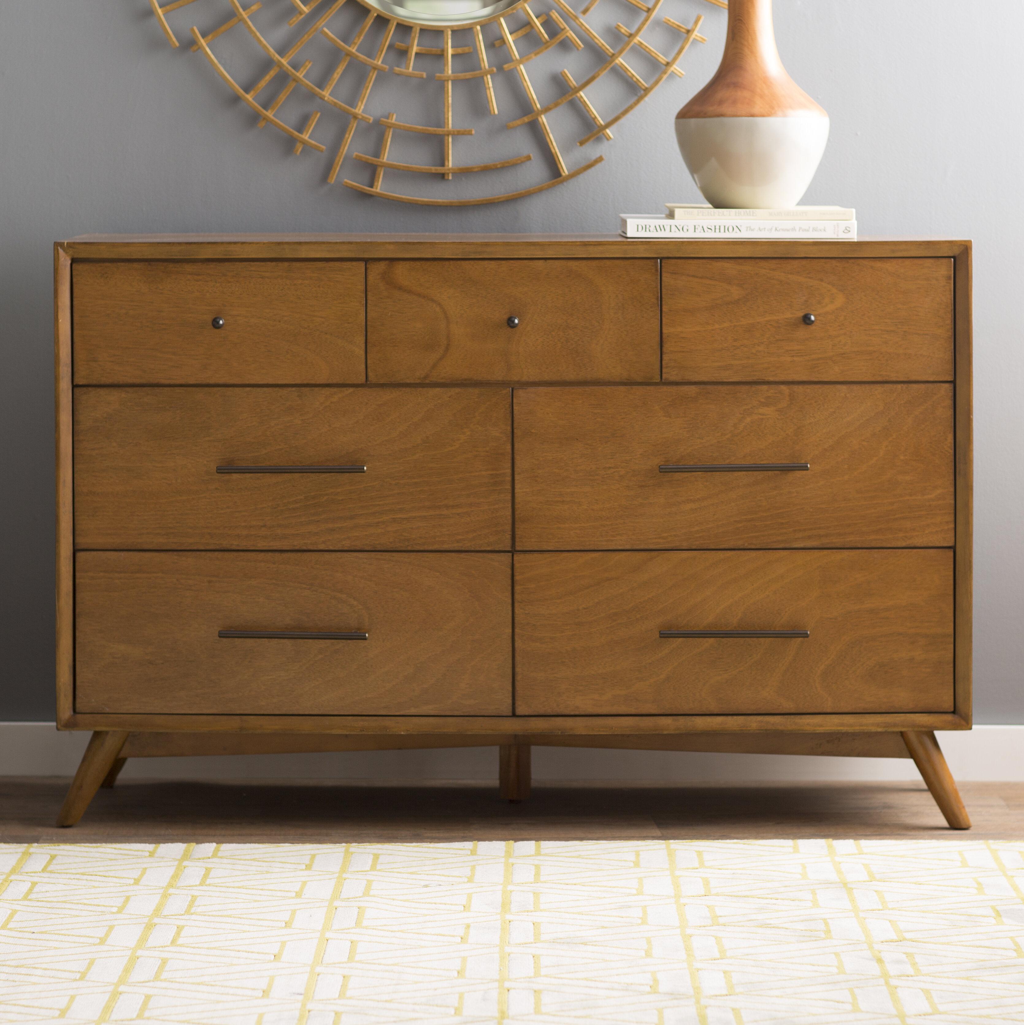 Langley Street Parocela 7 Drawer Dresser U0026 Reviews | Wayfair
