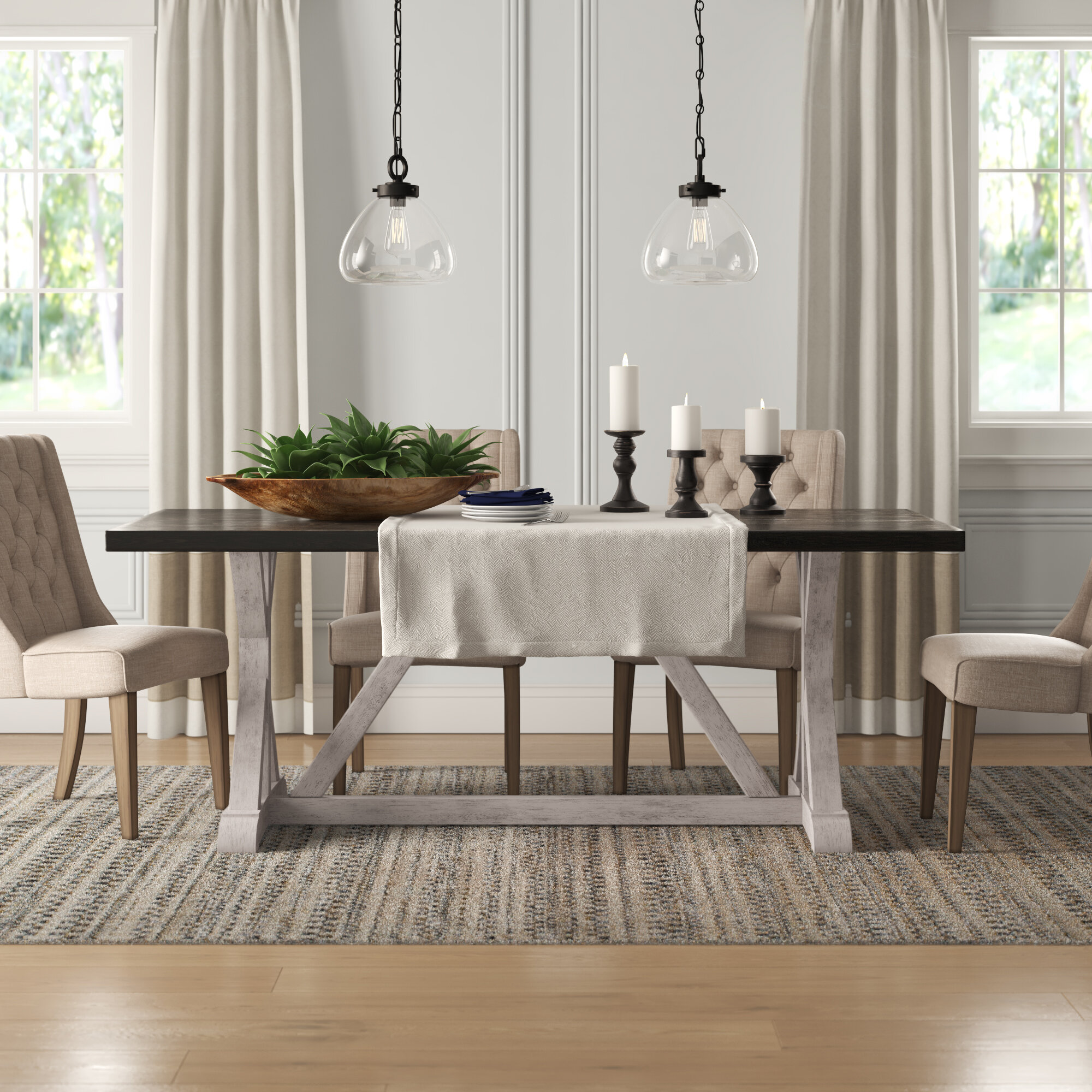 Hector Trestle Dining Table Reviews Birch Lane