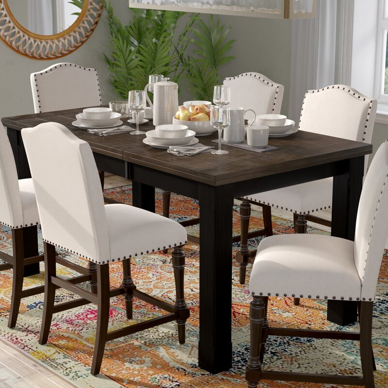 World Menagerie Landrum Counter Height Extendable Dining Table Reviews Wayfair
