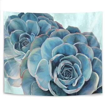 East Urban Home Shiny Succulent By Emanuela Carratoni Tapestry Wayfair Ca