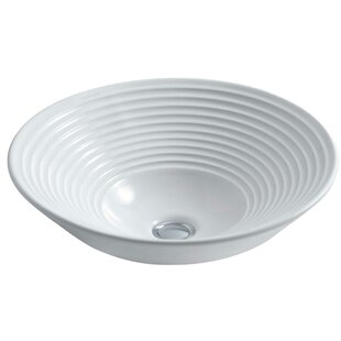 Kohler Turnings Ceramic Circular Vessel Bathroom Sink