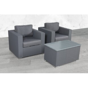 Frisbie 3 Piece Seating Group with Cushions