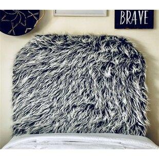 Hosley Mongolian Fur Beveled Twin/Twin XL Upholstered Panel Headboard