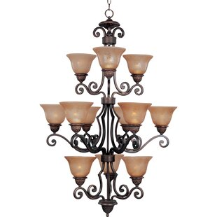Fleur De Lis Living Alsager 12-Light Shaded Chandelier