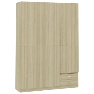 Abrah 3 Door Corner Wardrobe By 17 Stories