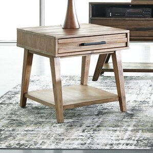 Willard Rectangular End Table by Union Rustic
