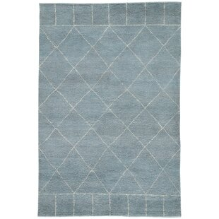 Buy Charvi Hand-Knotted Moroccan Blue/White Area Rug By Union Rustic