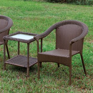Mckinnon Patio Chair Set with End Table