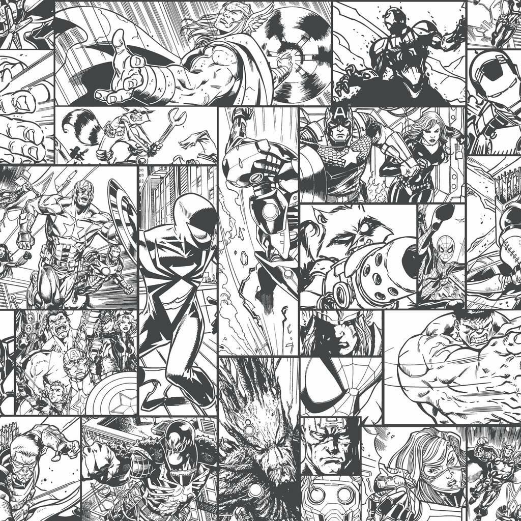 Manhattan Comfort Marvel Comic Book 33 L X 20 5 W Wallpaper Roll