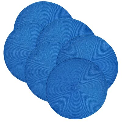 Birch Lane™ Heritage Round Braided Placemats Color: Ocean