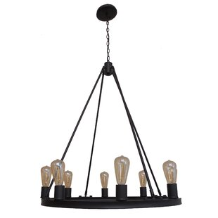 Latitude Run Berard 8-Light Wagon Wheel Chandelier