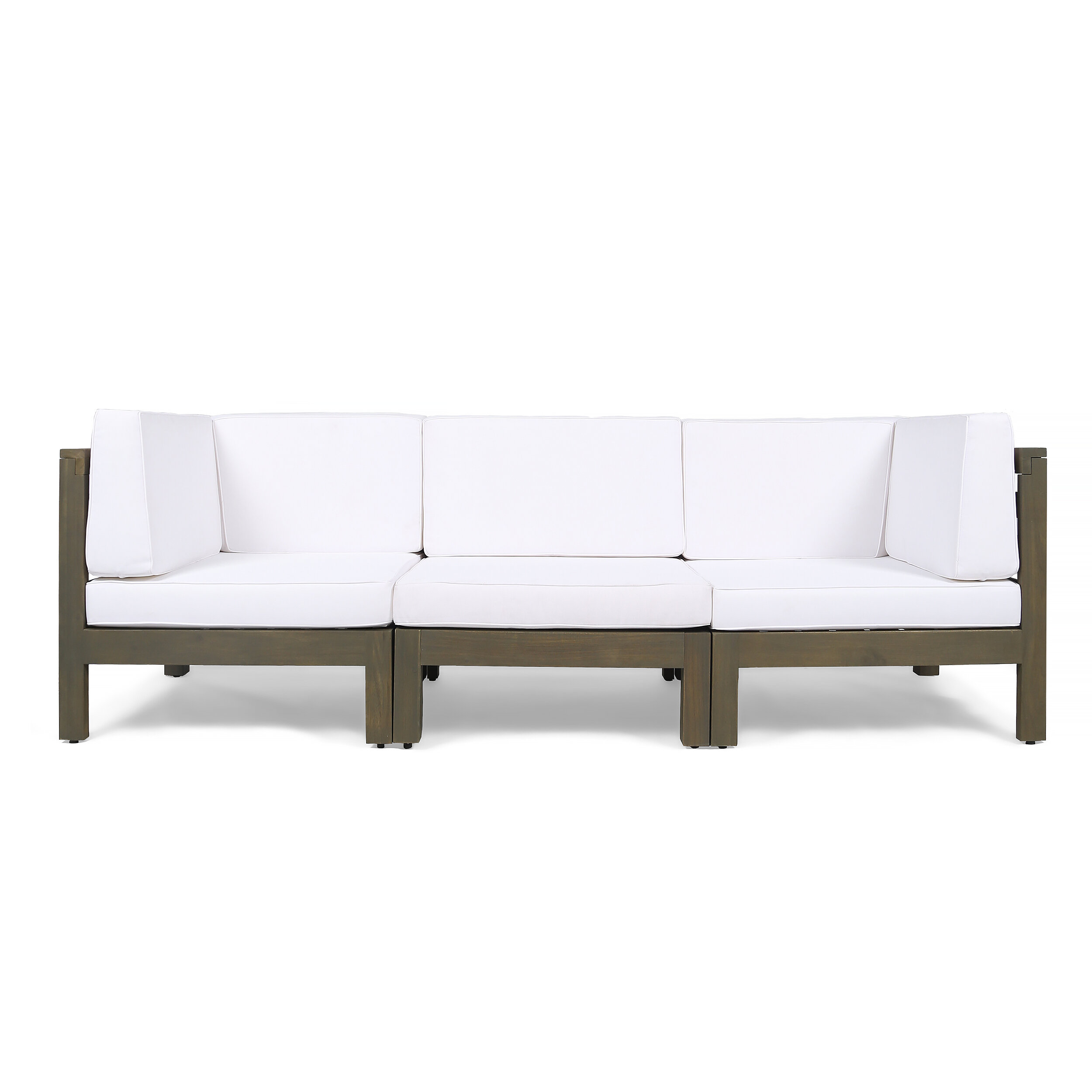 Seaham Teak Patio Sofa with Cushions
