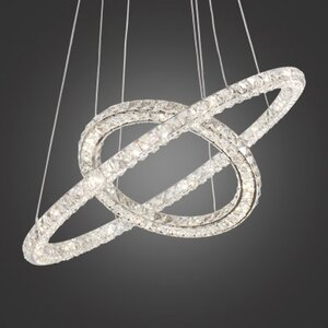 Thayer Double Ring LED Crystal Chandelier