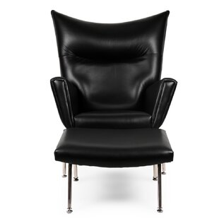 Wingback Chair & Ottoman by Kardiel