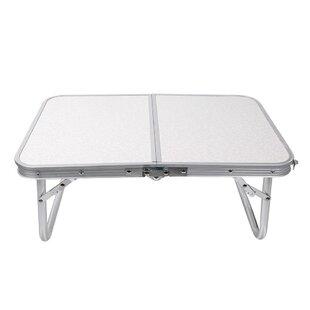Aluminum Tray Table by Inbox Zero