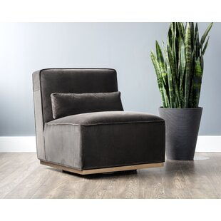 Caledon Swivel Slipper Chair by Sunpan Modern