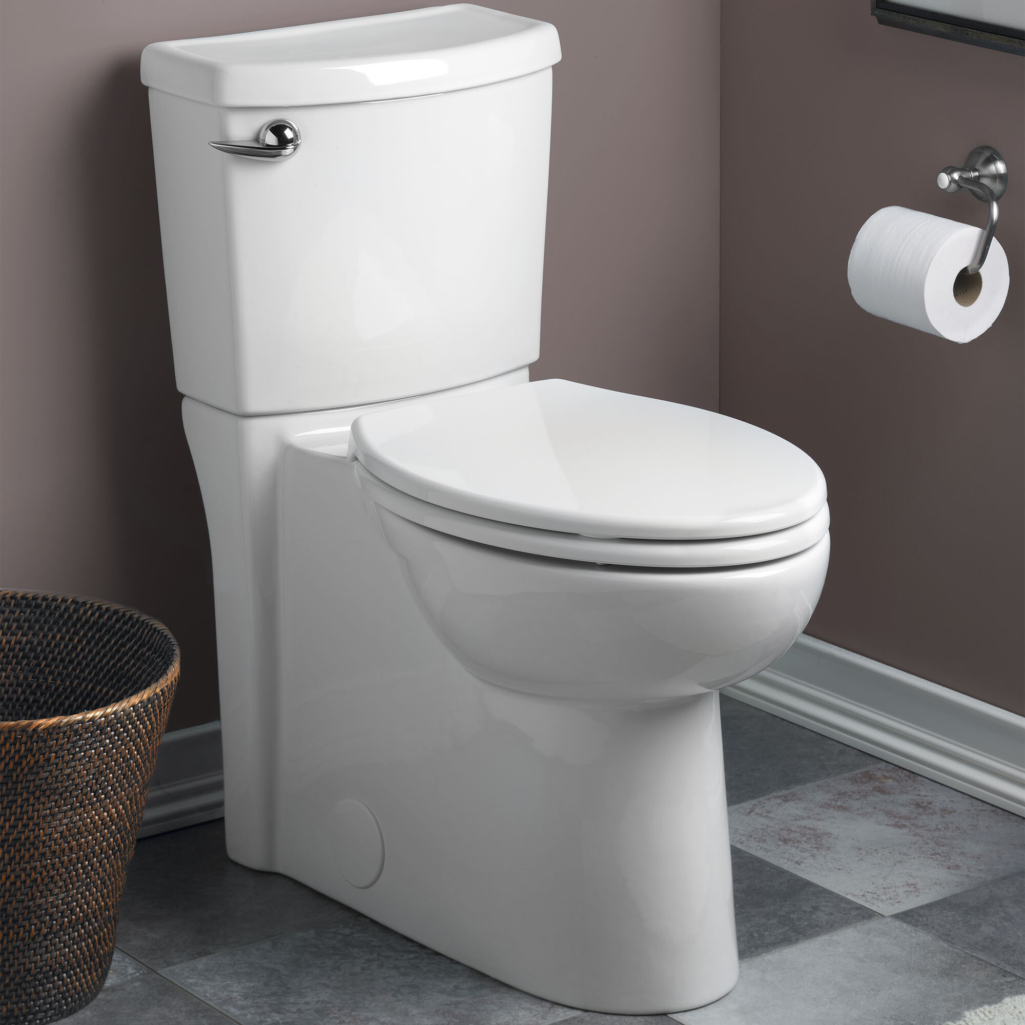 Pleasing Cadet 3 Right Height Round Two Piece Toilet Seat Included Onthecornerstone Fun Painted Chair Ideas Images Onthecornerstoneorg
