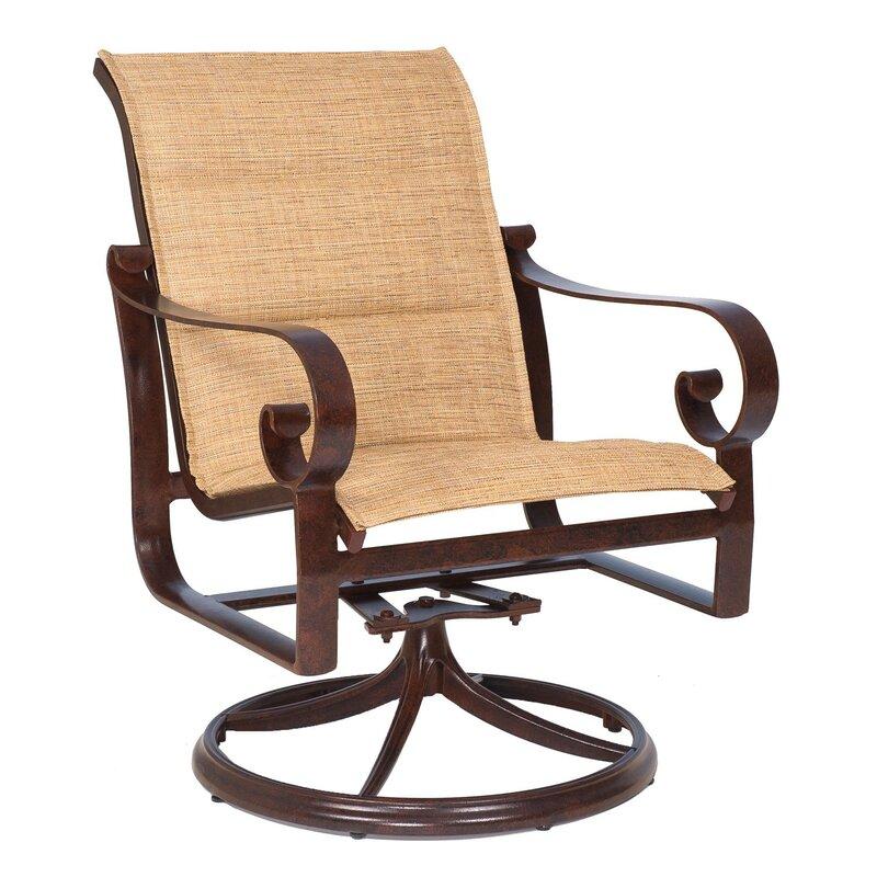 Gorgeous Belden Rocker Swivel Patio Dining Chair Set Of 2