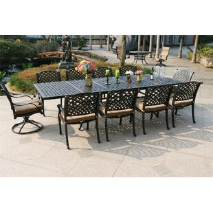 Bales Aluminum 11 Piece Dining Set with Cushions