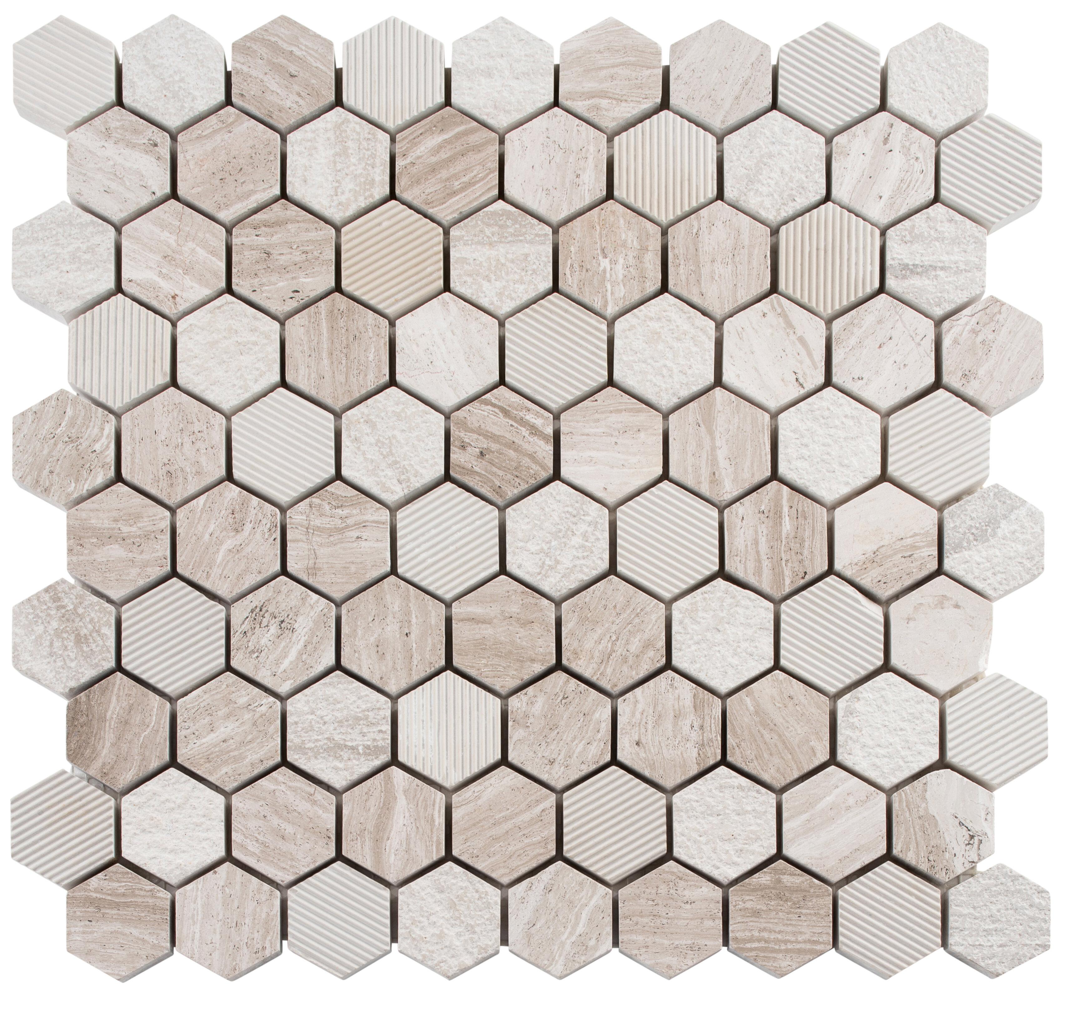 Andova Amarillo 1 25 X 1 25 Natural Stone Mosaic Tile Wayfair
